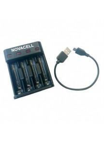 CARGADOR DE PILAS NOVACELL USB